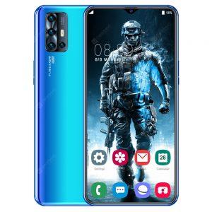 V19 Smartphone MT6799 Quad Core 6.7 inch HD+ 4GB RAM + 64GB ROM Android 9.0 13MP + 48MP Cameras 4800mAh Battery Face ID Unlock