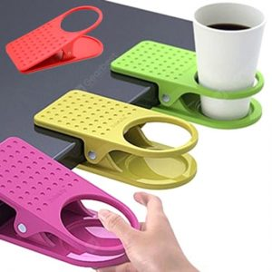 Monclique Table Glass Clip Clip-on Plastic Cup Holder Office Table Big Clip (Random Color)