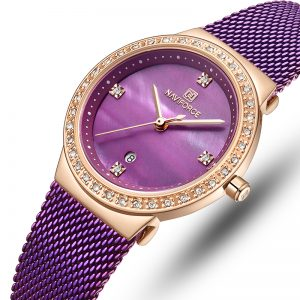 NAVIFORCE 5005 Diamonds Casual Style Ladies Wrist Watch
