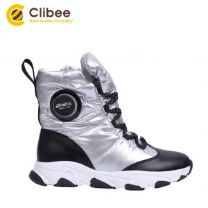 CLIBEE Boys Girls Outdoor Snow Boots Winter Waterproof Slip Resistant Cold Weather Shoes Children's Warm Hiking Trekking Shoes