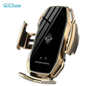 A5 10W Wireless Car Charger Automatic Clamping Fast Charging Phone Holder Mount Car for iPhone 11 Huawei Samsung Smart Phones