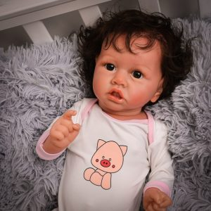 """22"""" Realistic Tyler Reborn Baby Doll Boy Realistic Lifelike Doll With Crooked Mouth Adorable Bonecas Toy Birthday Gifts"""