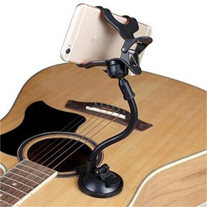 Phone Holder Stand for Guitar Street Singing lyrics Song Sucker Suction Cups Musicians Guitar Stand Mobile Car Support Holder