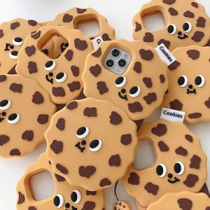Hot Korea 3D Chocolate cookies soft silicon cover case for apple iphone 6 6S 7 8 plus 8plus 11 Pro X XS XR MAX phone coque capa
