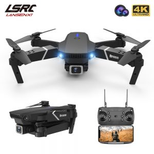 LSRC 2021 New Quadcopter Drone E525 HD 4K 1080P Camera and WiFi FPV HeightKeeping RC Foldable Quadcopter Dron Toy Gift
