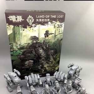 1/35 JOYTOY Mecha Action Figures Land Of The Lost DIY Model Kit 12Pieces Nude Color Unpainted Free Shipping