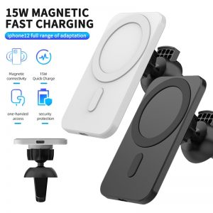 15W Magnetic Wireless Car Charger Mount Fast Charging Wireless Charger Car Phone Holder For IPhone 12 12 Pro 12 Pro Max
